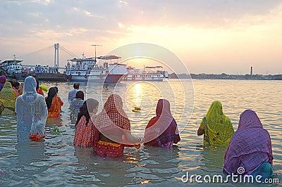 Chatt Festival in India Editorial Stock Photo