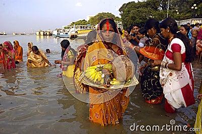 Chatt Festival in India Editorial Photo