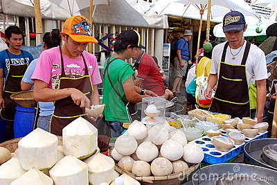 Chatuchak Market Coconut Ice Cream Vendors Editorial Photography