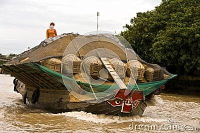Chau Doc floating market,Vietnam