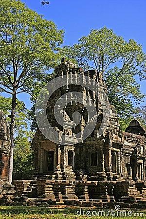 Chau Say Tevoda temple, Angkor area, Siem Reap, Cambodia