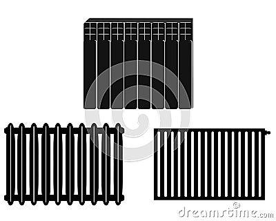 chauffage de batteries illustration de vecteur image 59706880. Black Bedroom Furniture Sets. Home Design Ideas