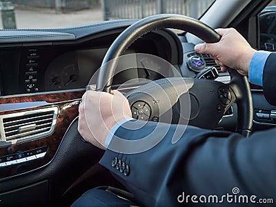 Chauffeur s hands