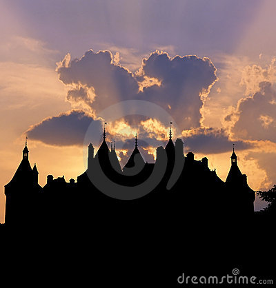 Free Chaumont Castle Sunset Stock Photo - 12549830