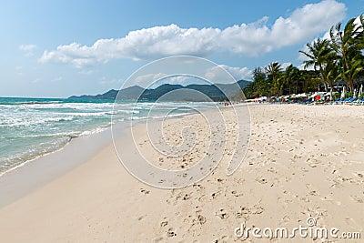 Chaweng sand beach on Samui island, Thailand