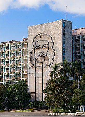 Che Guevara Monument in Plaza de la Revolucion. La Editorial Photo