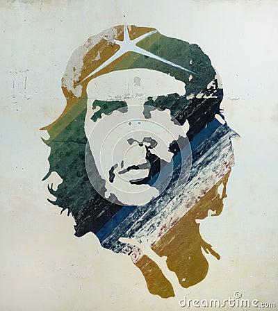 Che Guevara painting in Old Havana, Cuba. Editorial Image