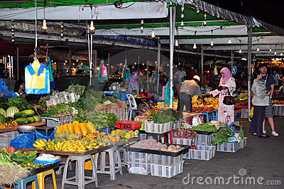 Cheap Market in Bandar Seri Begawan, Brunei. Editorial Stock Image