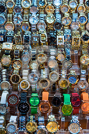 cheap watches in grand bazaar editorial image image