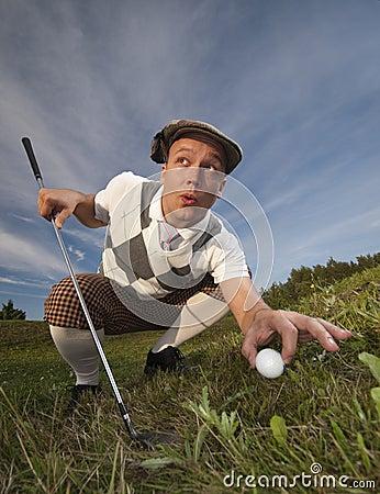 Cheating golfer