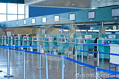 Check-in area in the airport