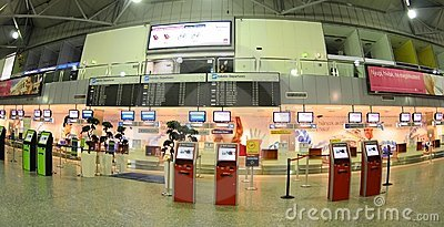 Check-in in Budapest aiport Ferihegy Editorial Photo