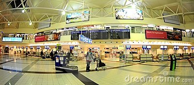 Check-in in Budapest aiport Ferihegy Editorial Photography