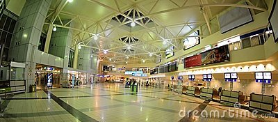 Check-in in Budapest aiport Ferihegy Editorial Stock Photo