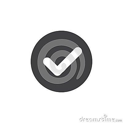 Free Check, Checkmark Flat Icon. Round Simple Button, Circular Vector Sign. Stock Image - 95310671