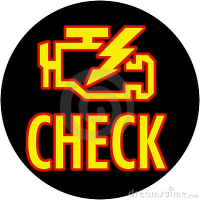 Check engine light in circle
