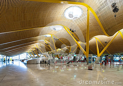 Check-in hall of Barajas Airport Editorial Image