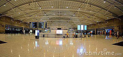 Check-in in Larnaca  airport - Cyprus Editorial Stock Image