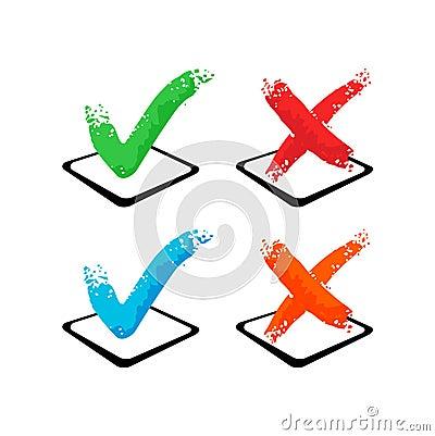 Check mark - Yes and No