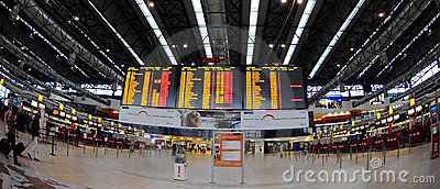 Check-in in Prague  airport Editorial Stock Image