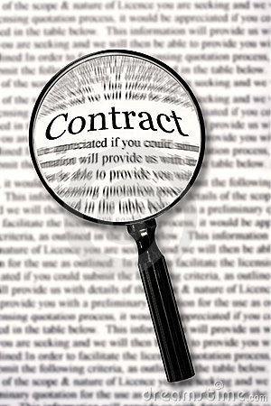 Free Check That Contract Stock Image - 4746851