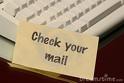 Check your mail message