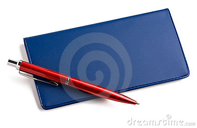 Checkbook and pen