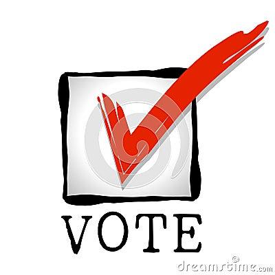 Checkbox Red Vote Stock Photos Image 6712613
