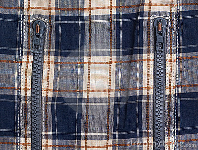 Checked cloth with zippers