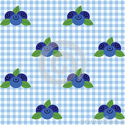 Checked pattern with blueberry