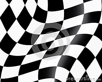 Checked racing flag