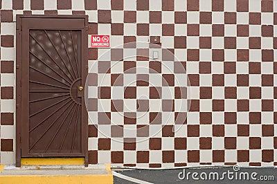 Checker Board with Door