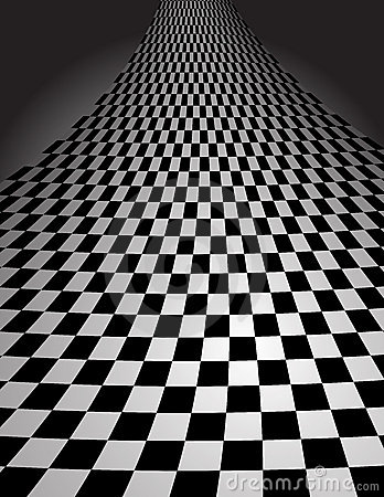 Checker Pattern in perspective - vector illustrati