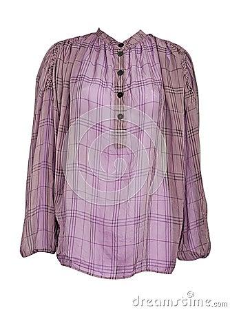 Checker shirt loose jacket
