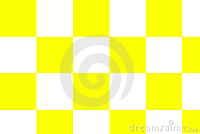 A checkerboard background