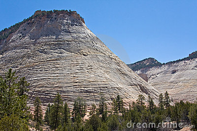 Checkerboard Mesa in Zion Canyon