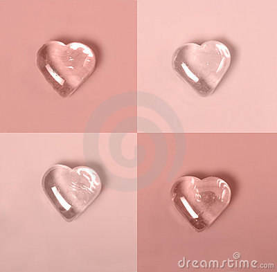 Checkerboard pink hearts