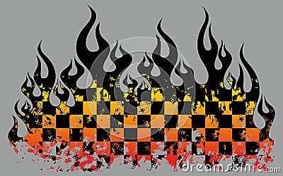 Checkered пламена
