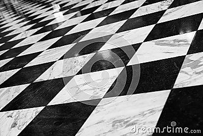 Checkered пол