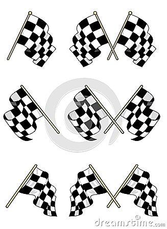 Checkered установленные флаги