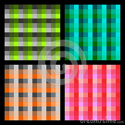 Checkered background set