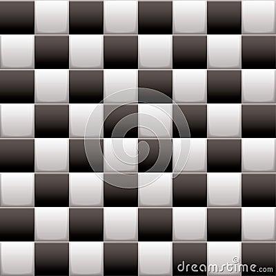 Checkered black n white