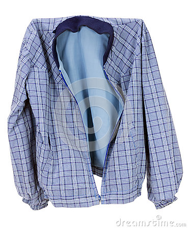 Checkered blue cotton  jacket