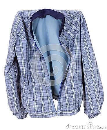 Checkered blue cotton  jacket