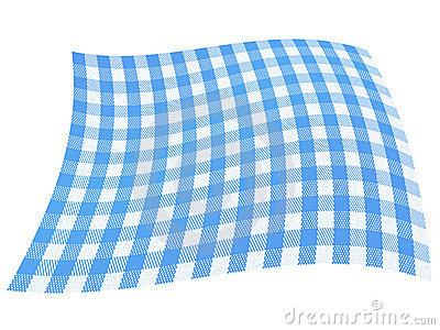 Checkered Blue Flag
