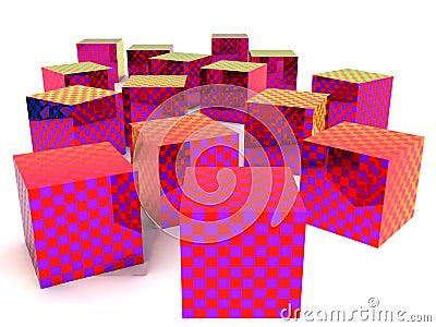 Checkered boxes