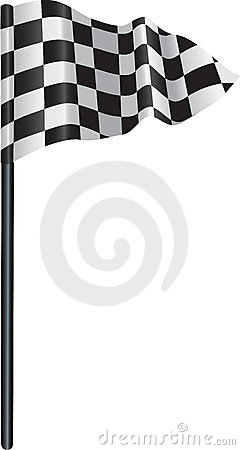Checkered, chequered golf flag