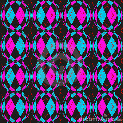 Checkered circels pattern