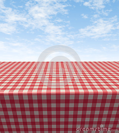 Free Checkered Cloth Table Royalty Free Stock Images - 26911369