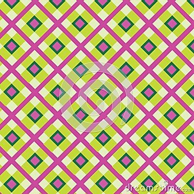 Checkered cotton fabric seamless pattern